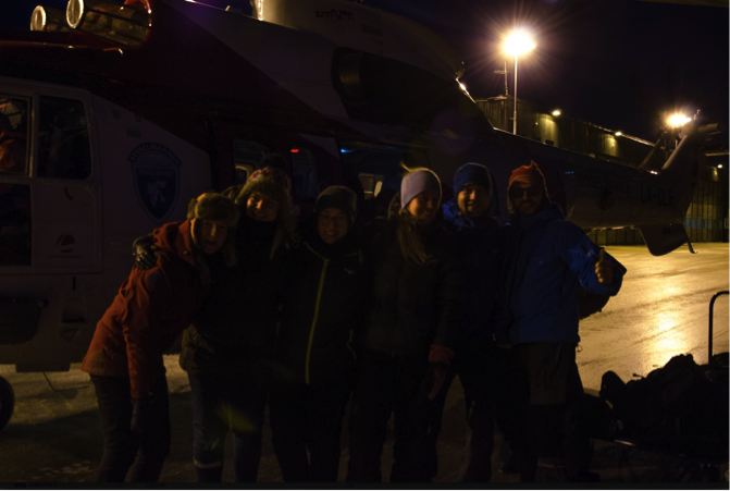 Happy students safely back in Longyearbyen! (Photo: Piotr Balazy)